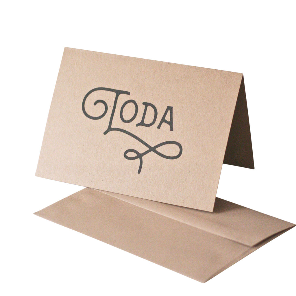 'Toda' Thank You Card