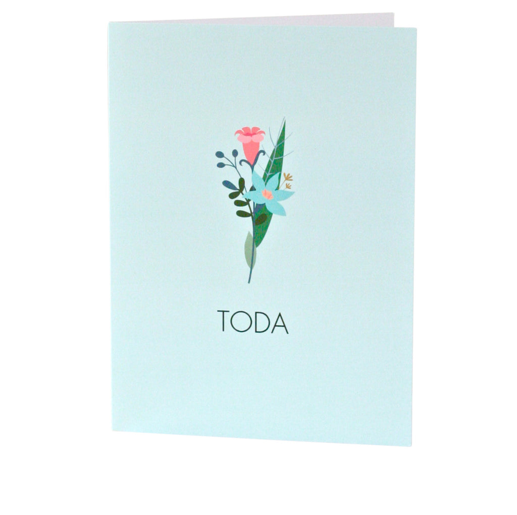 """Toda"" Bouquet Thank You Card"