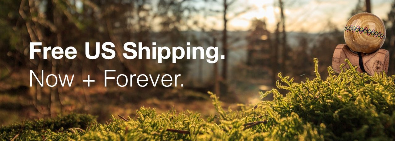 Kendama orders ship free always in USA