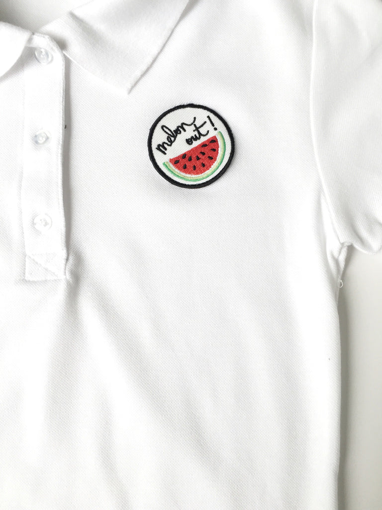 Melon Out Patch Polo