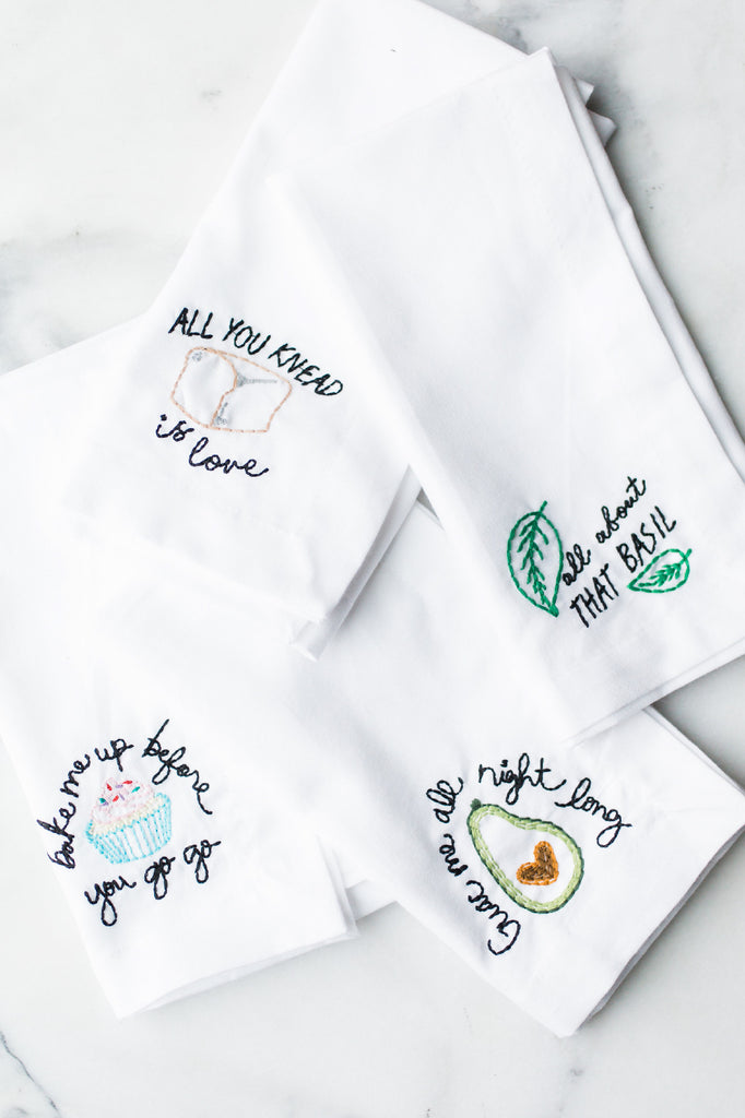 Fresh & Fun Embroidered Napkin Set