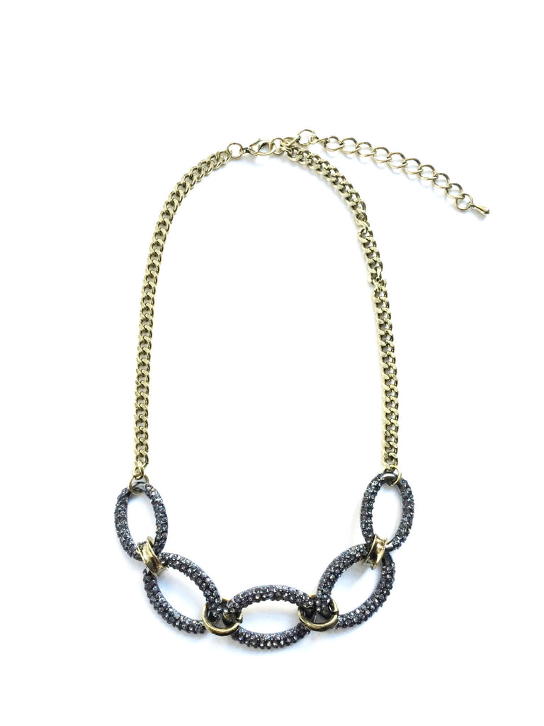 Pave Rings Necklace