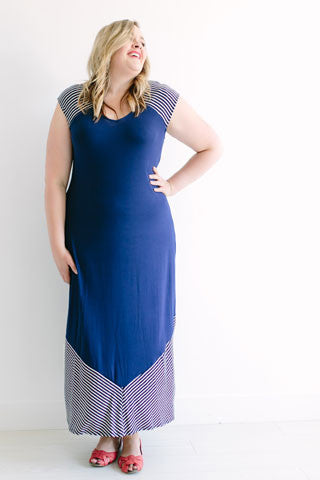 Point & Stripe Dress (size 12/14-18)
