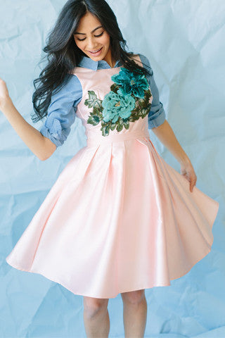 Full Bloom Dress - Pink