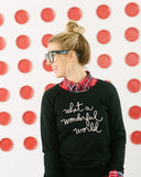What a Wonderful World Sweater