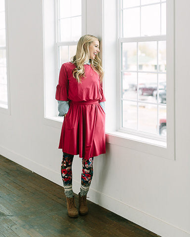 Very Bien Dress - Cranberry
