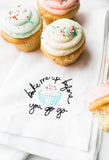 Bake Me Up Embroidered Napkin