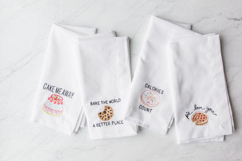 Bake the World Embroidered Napkin