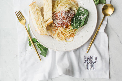 Carb Up Embroidered Napkin Set
