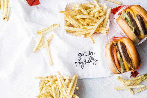 Get in my Belly Embroidered Napkin