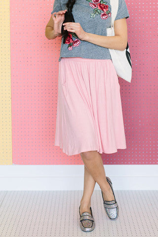 Go To Skirt - Pink