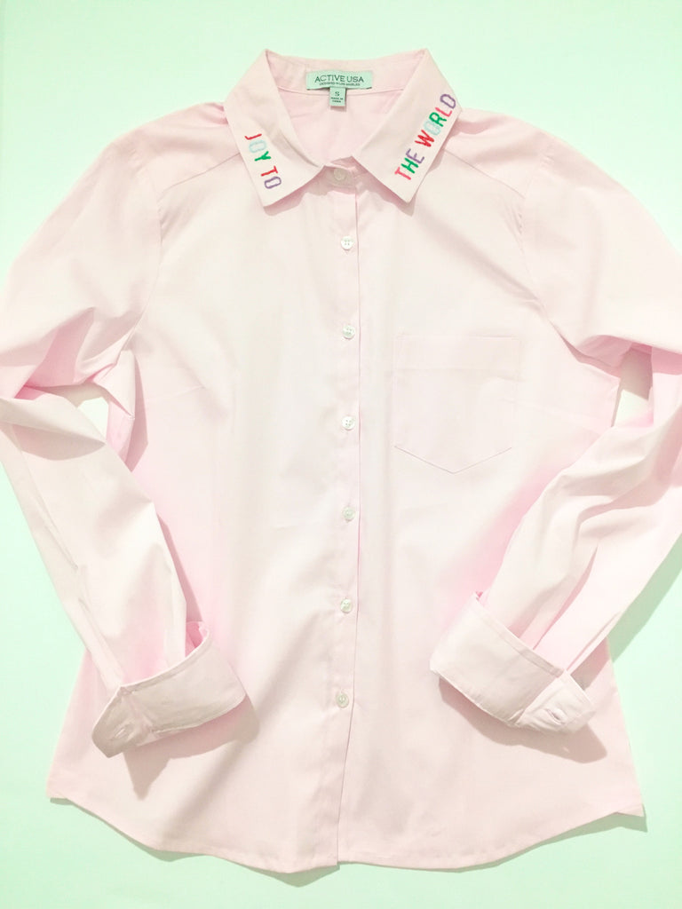 Joy to the World Button Down