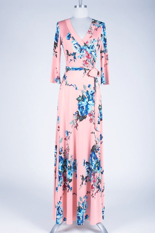 May Flowers Maxi Dress - Pink