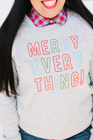 Merry Every Thing Eco Fleece Pullover