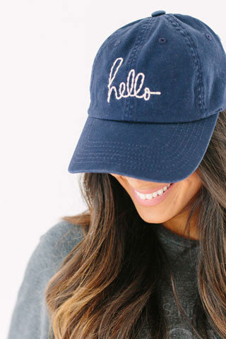 Signature Hello Cap - NAVY