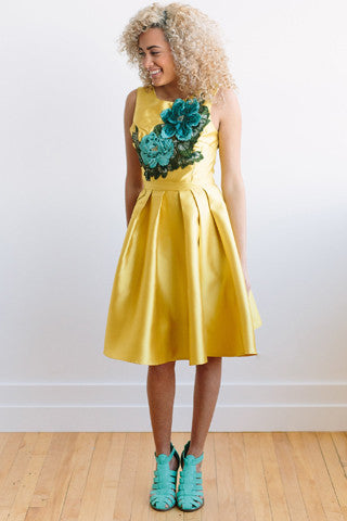 Full Bloom Dress - Yellow