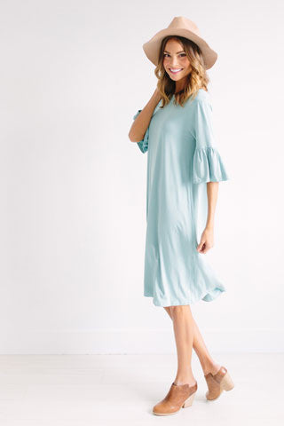 Very Bien Dress - Antique Aqua