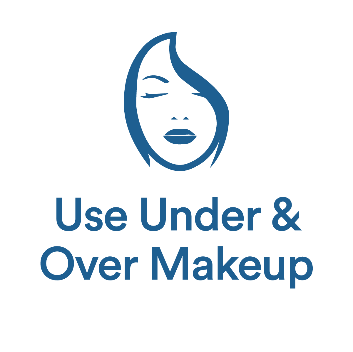 Use under and over makeup