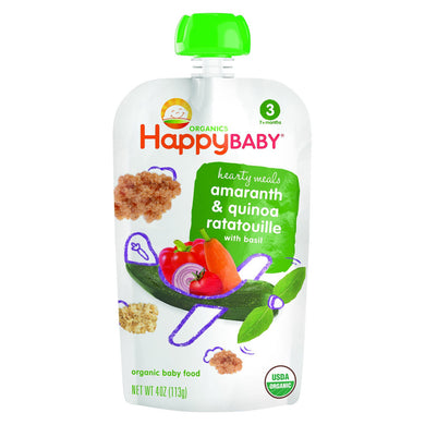 Happy Baby Stage 3 Baby Food, Amaranth Ratatouille, 4oz (16 Pack)