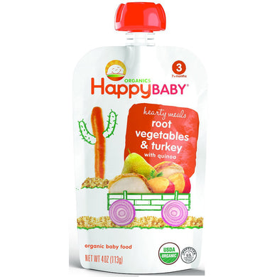 Happy Baby Stage 3 Baby Food, Gobble Gobble, 4oz (16 Pack)