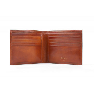Bosca Old Leather Collection 8 Pocket Dlx Executive Wallet Amber
