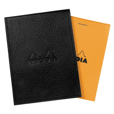 Rhodia Black Pad Holder with Lined Pad