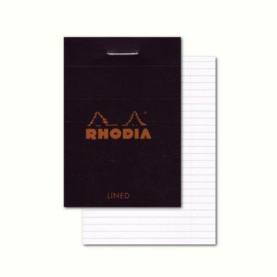 Rhodia Classic Black Staple Bound Lined Notepad