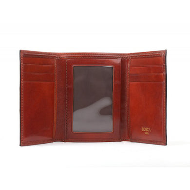 Bosca Old Leather Double ID Trifold