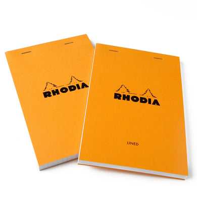 Rhodia Classic Orange Staple Bound Lined Notepad