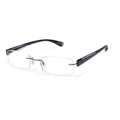 Scojo Gels Widelines Rimless Reading Glasses - Black/Gray