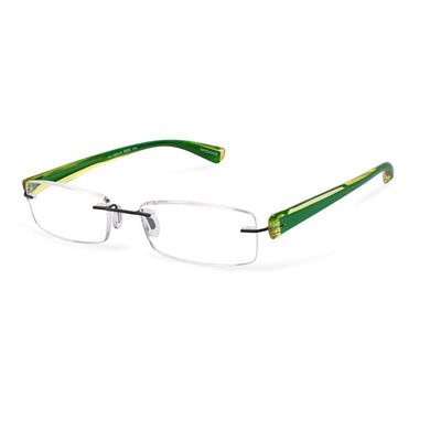 Scojo Gels Widelines Rimless Reading Glasses - Lime Green