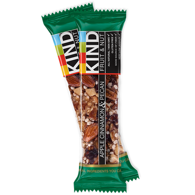 Kind Bars Fruit & Nut, Apple Cinnamon and Pecan, (Pack of 12)