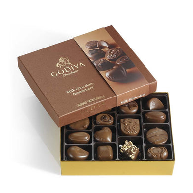 Godiva Small Milk Chocolate Assortment Gift Box 15pc