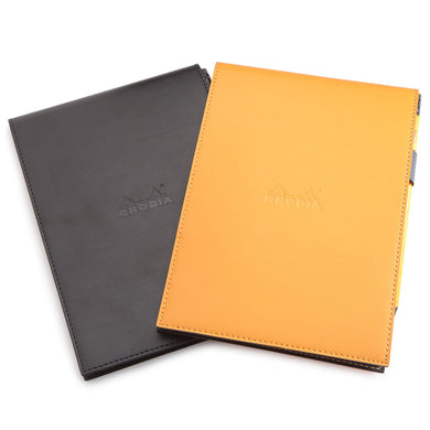 Rhodia Orange Pad Holder with Lined Pad