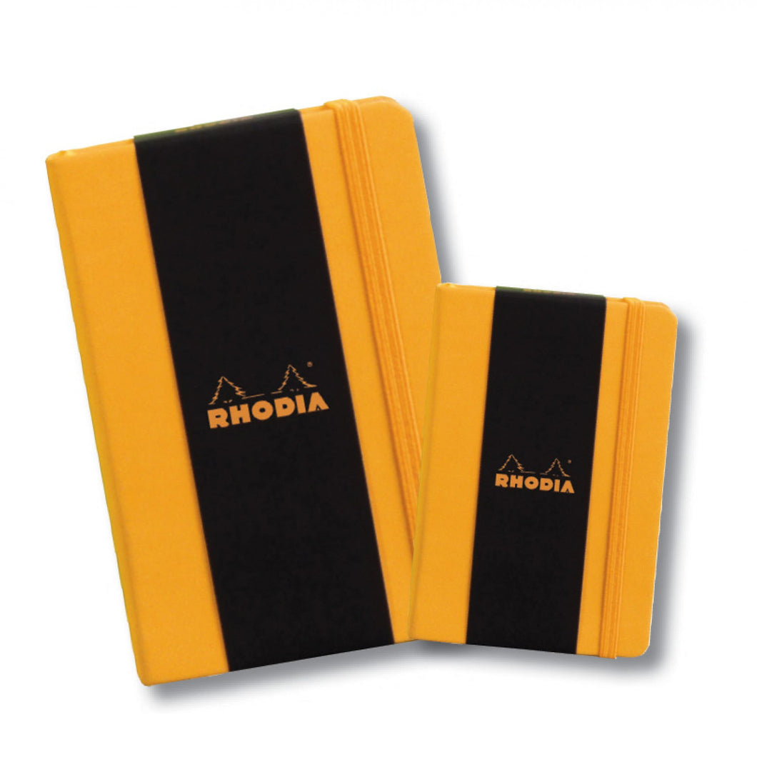 Rhodia Webnotebook with Elastic Closure - Orange