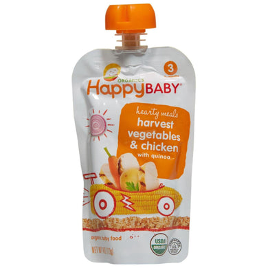 Happy Baby Stage 3 Baby Food, Chick Chick, 4oz (16 Pack)