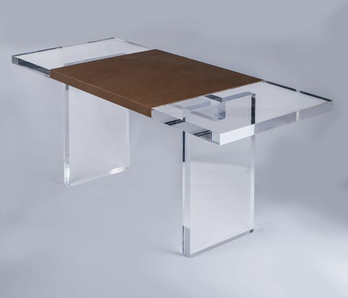 Acrylic-Leather-Wrap-Desk