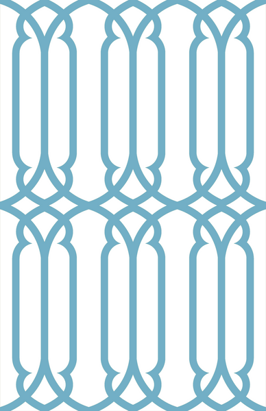 Trellis - French Blue (Reverse)