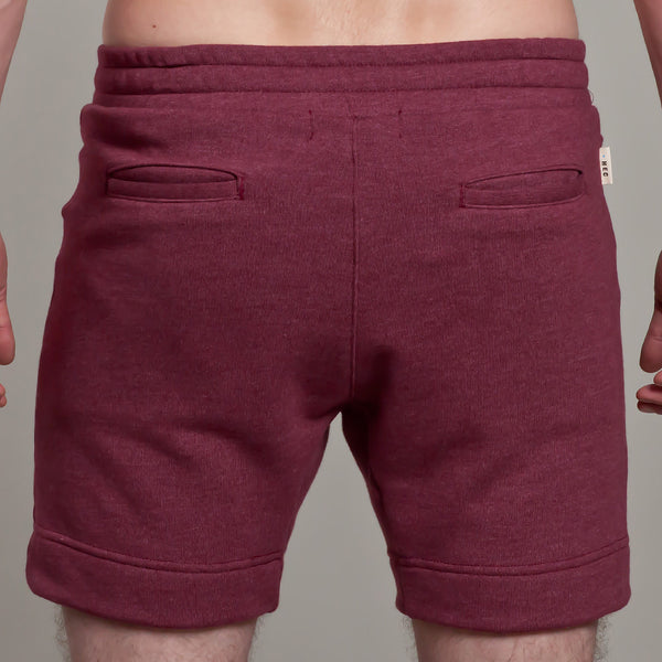7 Inch short | French Terry | Burgundy