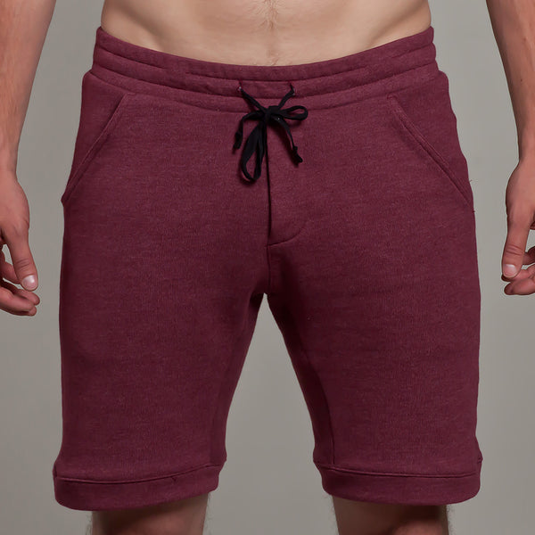9 Inch short | French Terry | Burgundy