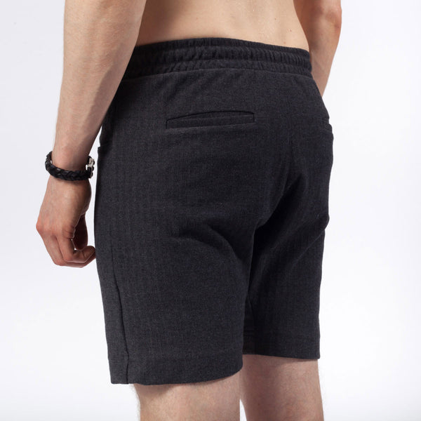 7 inch short | Herringbone | Charcoal