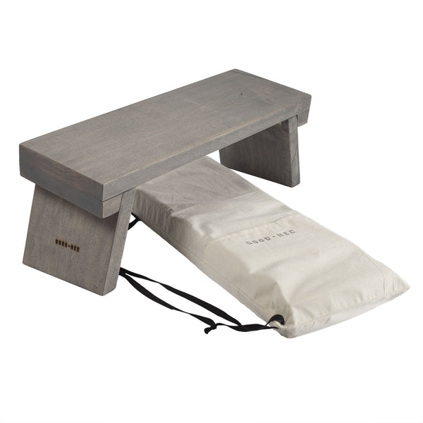 Meditation Bench | 100% Maple | Weathered Grey