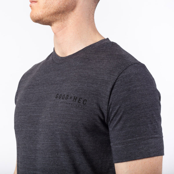 Core Tee | Small Logo | Charcoal