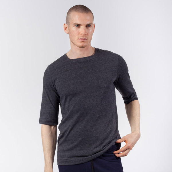 Square Neck Tee | Charcoal