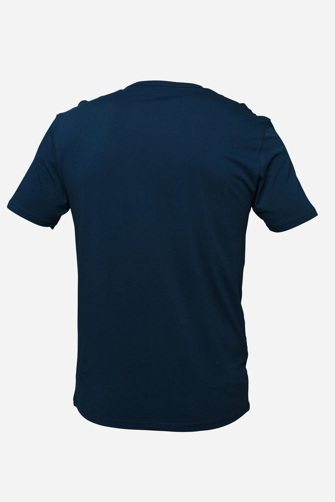 Pocket Tee — Wavy Navy