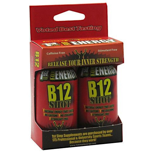1st Step for Energy B12 Shot - Cherry Charge - 2 Bottles - 673131100194