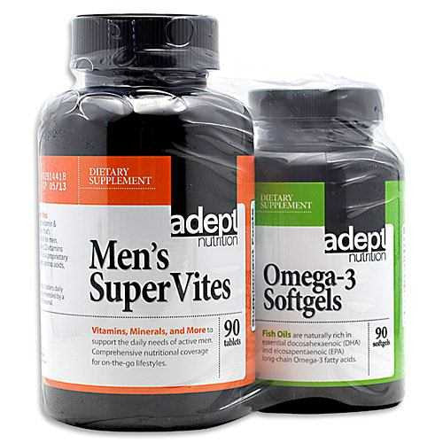 Adept Nutrition Mens Supervites/Omega-3 Softgels