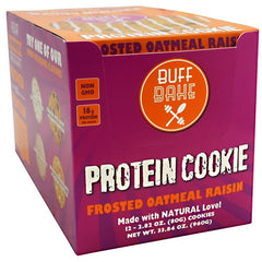 Buff Bake Protein Cookie - Frosted Oatmeal Raisin - 12 ea - 857697005593