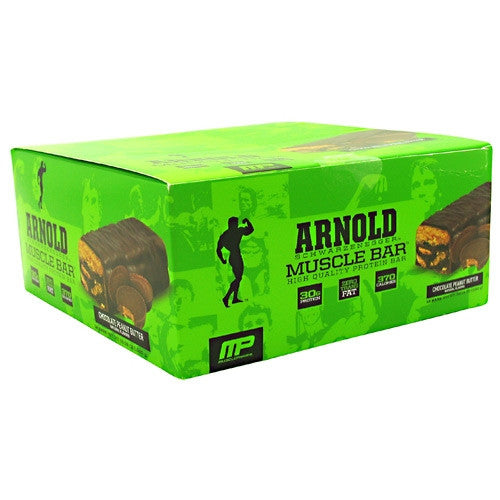 Arnold By Musclepharm Muscle Bar - Chocolate Peanut Butter - 12 Bars - 748252314857