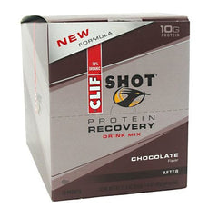 Clif Shot Protein Recovery Drink Mix - Chocolate - 12 Packets - 722252325105
